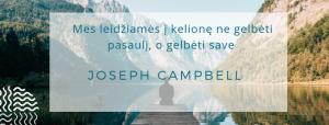 lyderyste autentiskumas campbell herojus